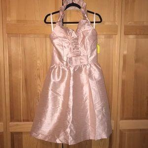 Alfred Sung Silk Halter Dress Size 10 NWT